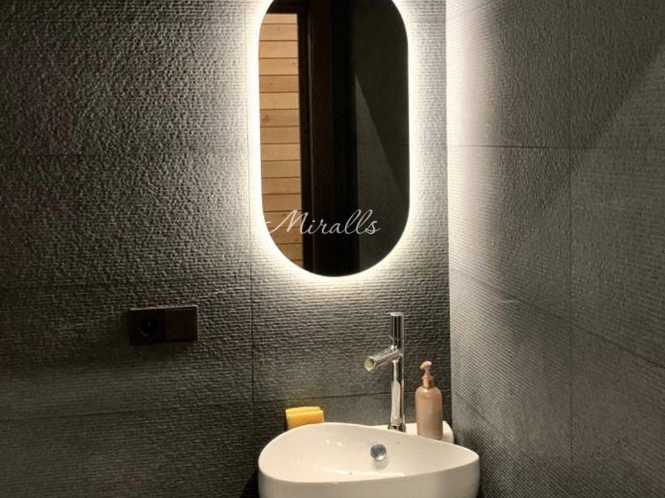 зеркало с подсветкой Serena в ванне