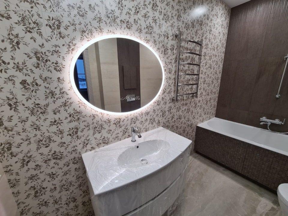 зеркало в ванной комнате с подсветкой Oko