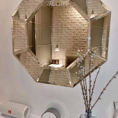 Многоугольное зеркало Esmeralda без подсветки