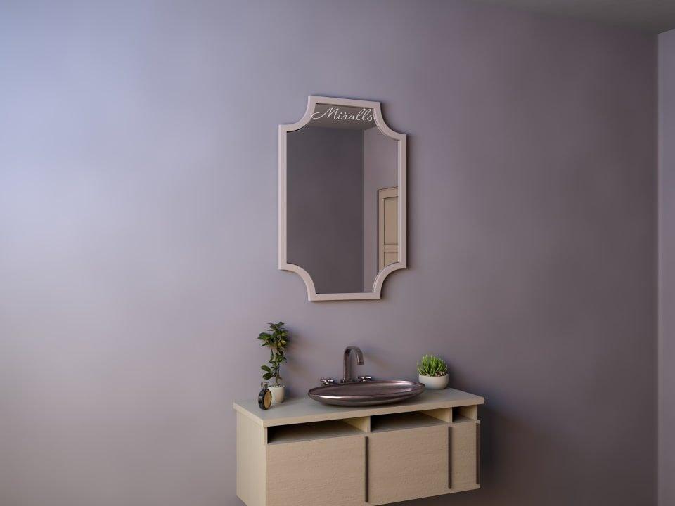 прямоугольное зеркало Nexus без подсветки в деревянной раме
