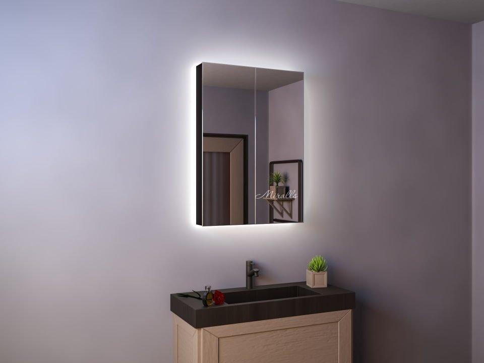 зеркальный шкаф в ванну Edmir с подсветкой