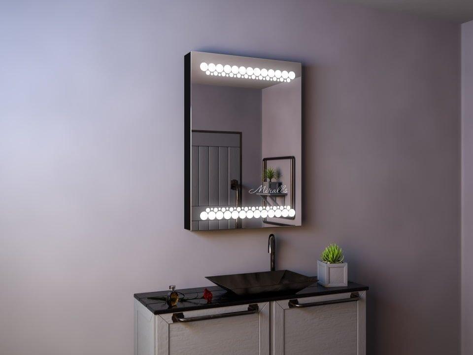 зеркальный шкаф в ванную комнату Malard с подсветкой