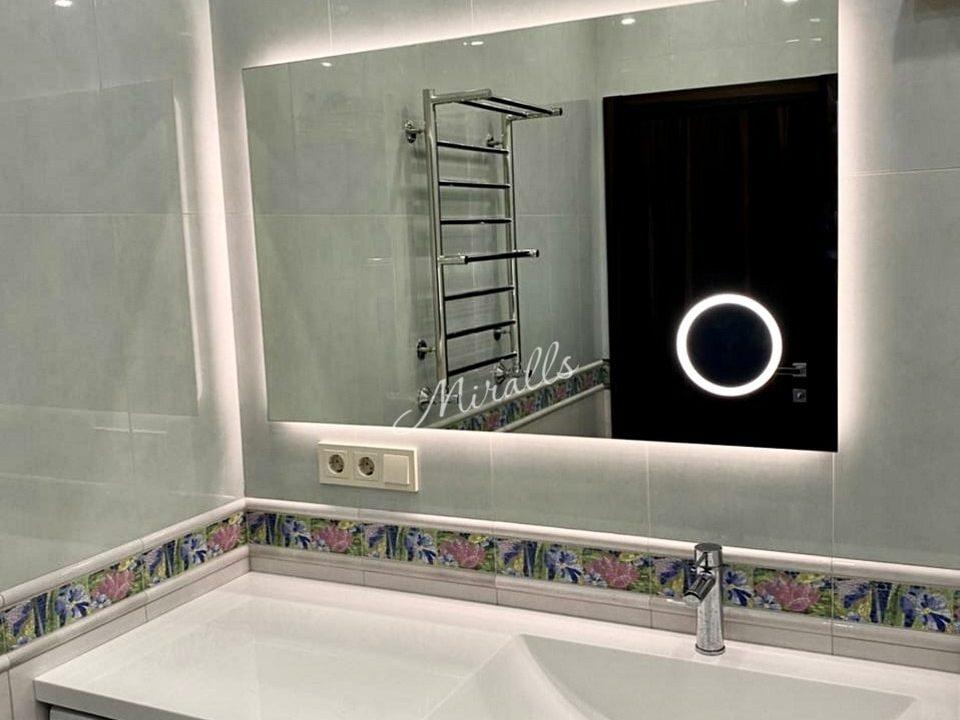 Зеркало Basic с увеличительным зеркалом в ванне