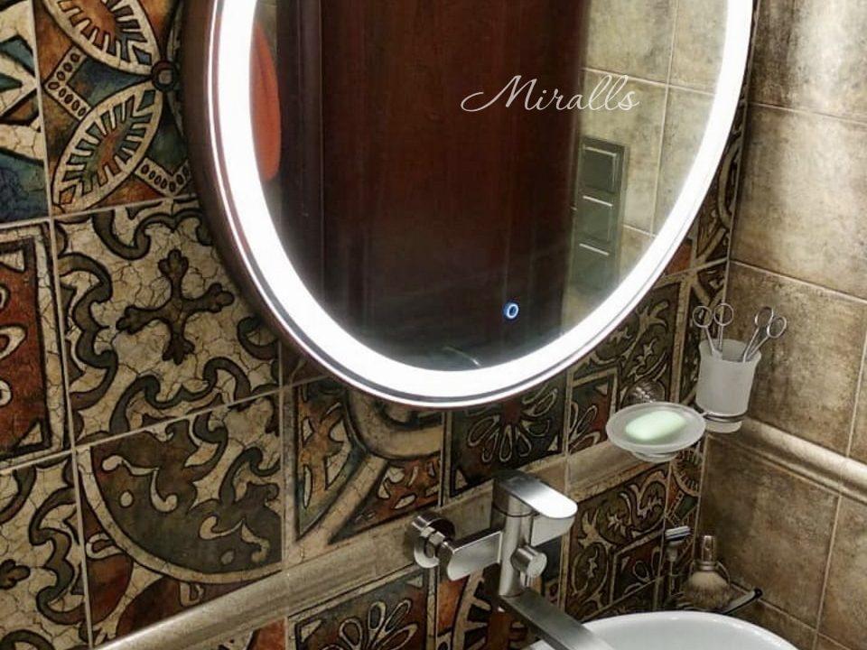 Зеркало круглой формы Medea Plus в ванне