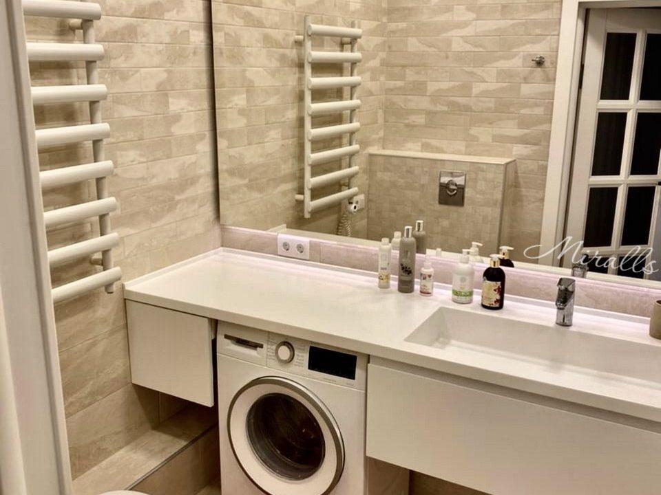 Зеркало прямоугольной формы Basic в ванне