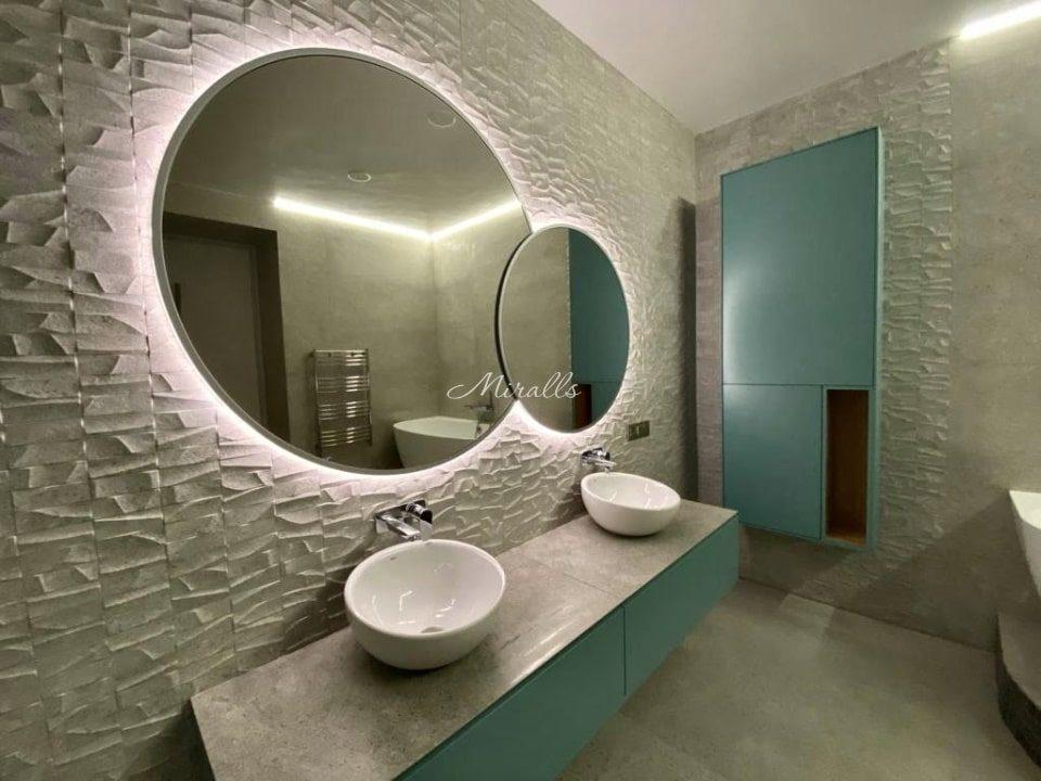 Интерьерное зеркало в ванне Solaris Extra