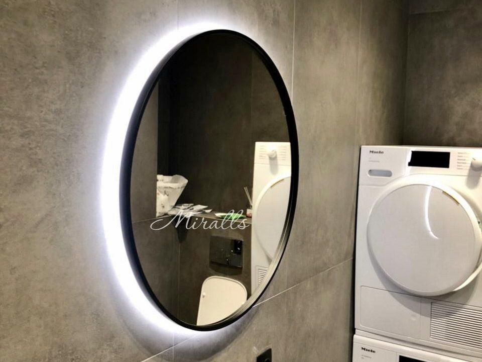 Круглое зеркало в ванне Oasis Extra