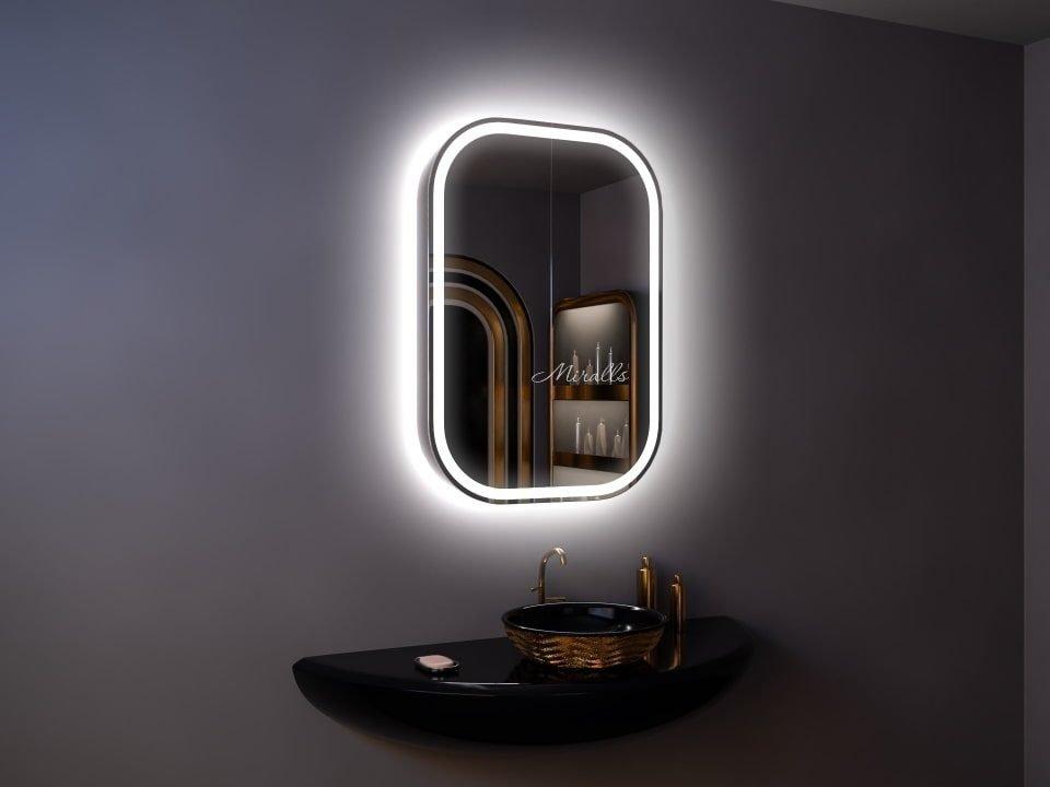 Зеркальный шкаф с подсветкой в ванную комнату Alicante Plus