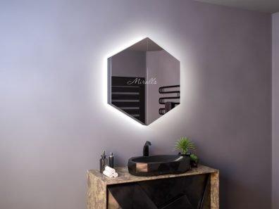 Зеркальный шкаф в ванную Flora