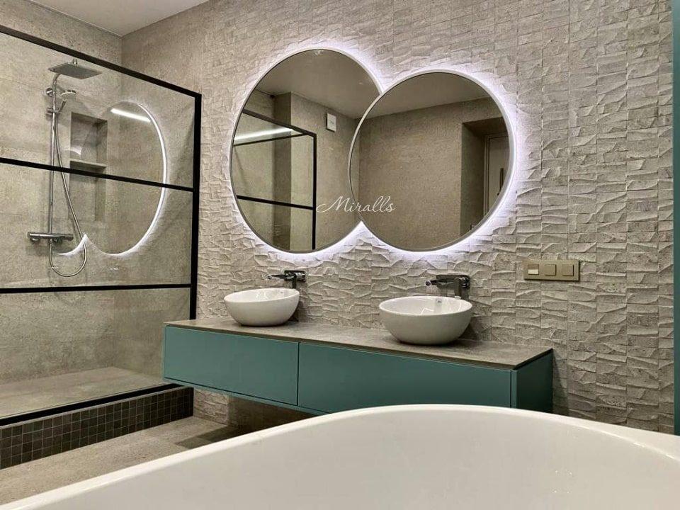 Зеркало с подсветкой Solaris Extra в ванне