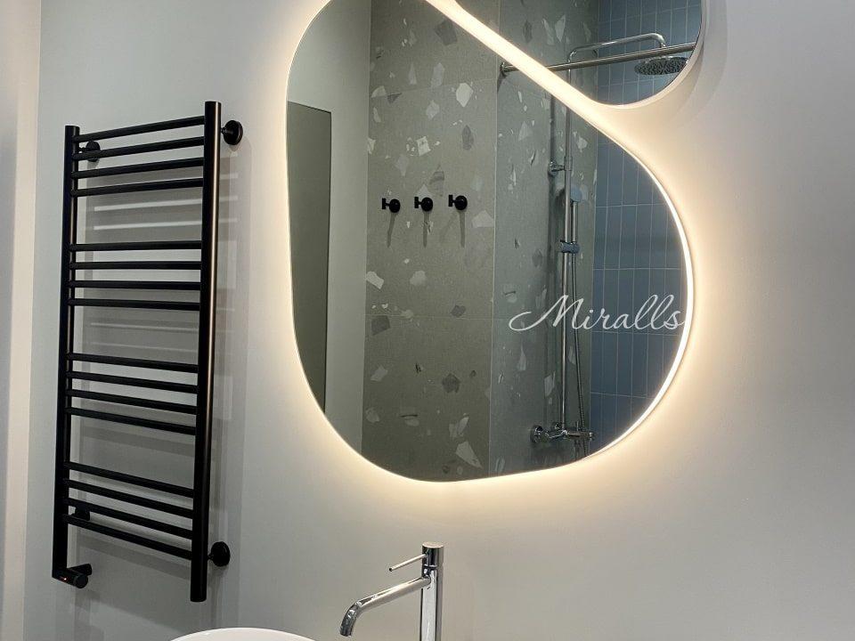 Дизайнерское зеркало с интерьерной подсветкой Opal Double