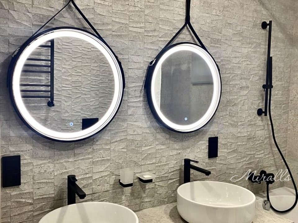 Два зеркала на ремне Feona Plus с фронтальной подсветкой