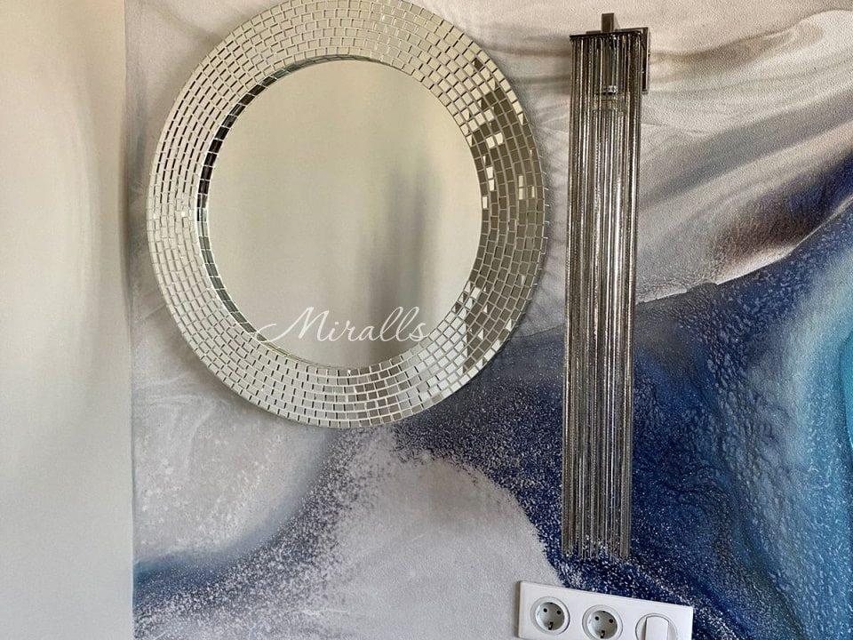 Круглое зеркало в раме из мозаики Josefina