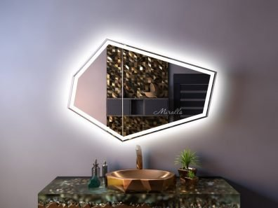 Зеркальный шкаф в ванную комнату Columbus Plus